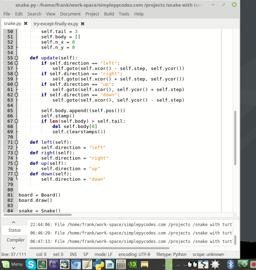 Game developeing with python and turtle. Snake Part 5