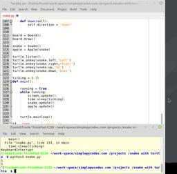 Game developeing with python and turtle. Snake Last part