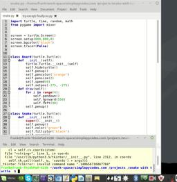 Game developeing with python and turtle. Snake Part 4