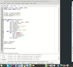 Game developeing with python and turtle. Snake Part 2