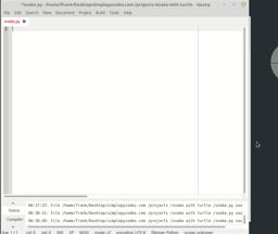 Game developeing with python and turtle. Snake Part 1