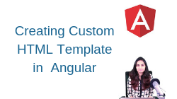 How to create custom HTML template