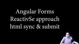Angular Forms - Reactive approach - Form sync with HTML