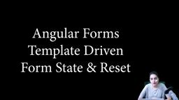 Angular Forms - Template driven - form states and form reset