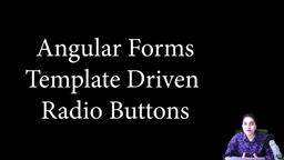 Angular Forms - Template driven - Adding radio buttons