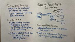 Data Warehouse & mining 3 types of processing of data warehouse| information|analytical|data mining