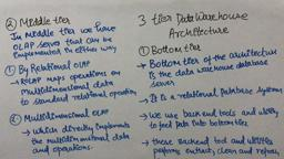 Data Warehouse & Mining 15 three/3 tier architecture of Data Warehouse