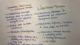 Data Warehouse & Mining 7 Warehouse Manager (Components of Data Warehouse)