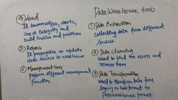 Data Warehouse & mining 14 Data Warehouse Tools