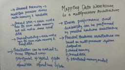 Data Warehouse & Mining 13 mapping data warehouse to a multi processor Architecture