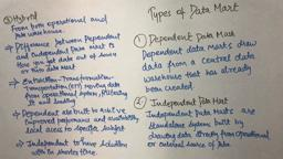 Data Warehouse & mining 10 Types of Data Mart