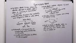 Network/Information and Cyber/ Web Security Lecture 5 Types of Active Attack