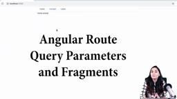 Angular Route - Query Parameters and Fragments