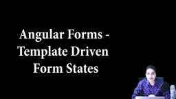 Angular Forms - Template driven - form states