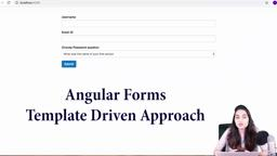 Angular Forms- Template Driven - Form creation
