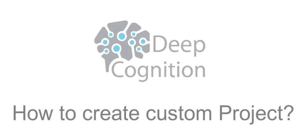 How To Create Custom Project on Deep Learning Studio