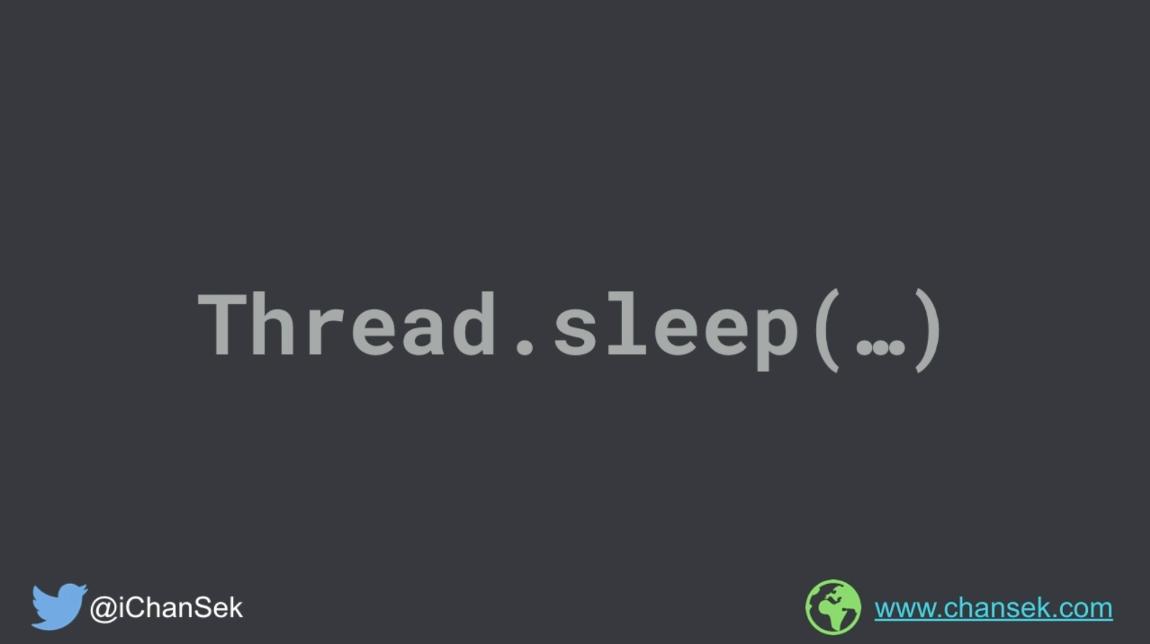 Cloning the functionality of Thread.sleep(...)