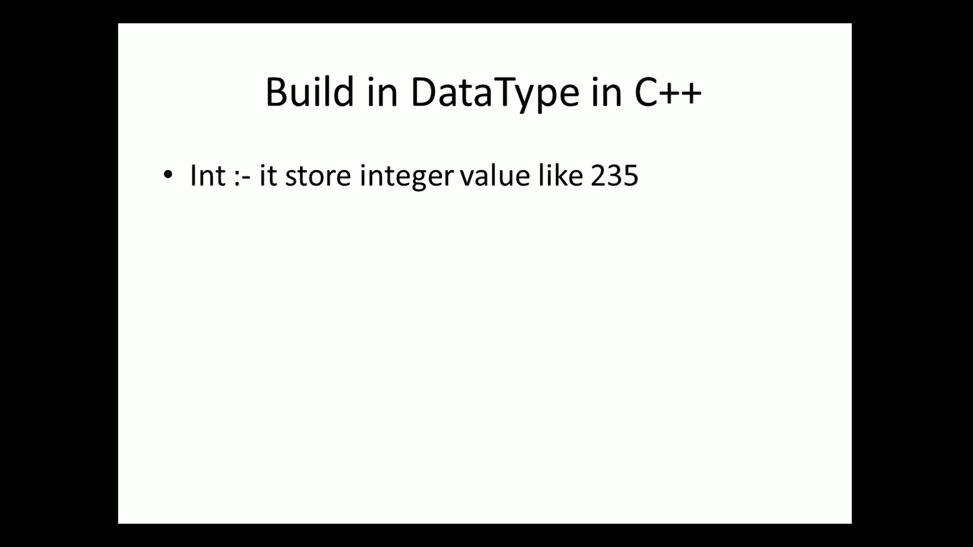 Build in data types of c++ & variable declaration | initialization