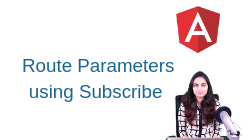 Angular- Route Parameters using subscribe